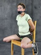 Pleasure and pain of bound girl