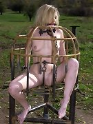 Slavegirl in cage