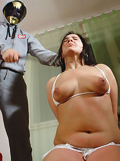 <!–-IMAGE_COUNT-–> of Hard breast punished slavegirl, Tisha