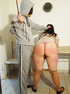 <!–-IMAGE_COUNT-–> of Big busty MILF got hard ass punishment