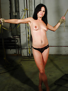<!–-IMAGE_COUNT-–> of Stretched Paola got hard whipping punishment