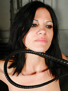 4 of Stretched Paola got hard whipping punishment