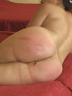 Nude girls get spanked
