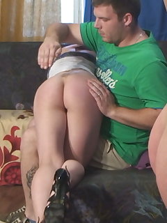 10 of Adrienne`s First OTK Spankings