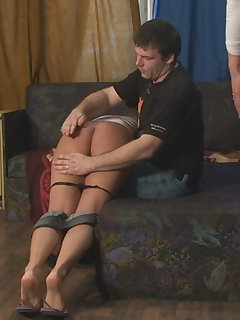 <!–-IMAGE_COUNT-–> of Severe OTK Spankings with Two Girls