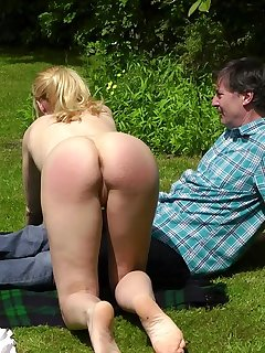 20 of Amelia gets spanked for sunbathing naked