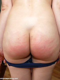 12 of Stripped naked, Belinda Lawson's peachy bottom is caned in hot series finale