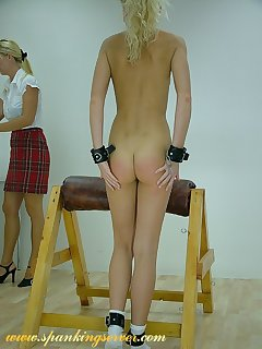 16 of Young blonde spanked girlfriend
