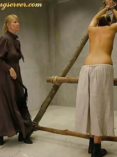 16 of Young woman whipping