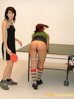 16 of Teen slut spanked by tennis racket