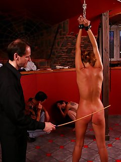 16 of Cries and tears of pain - young lovely suspended and whipped on her naked ass