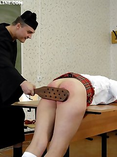 16 of 3 russian schoolgirl bitches brutally paddled to tears in the classroom