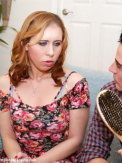 <!–-IMAGE_COUNT-–> of That's a bare ass hairbrush spanking for bratty Lily