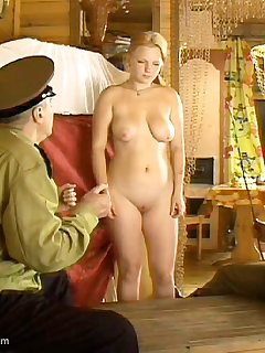 16 of 70 Strokes with the cane on this cute girl's naked buttocks