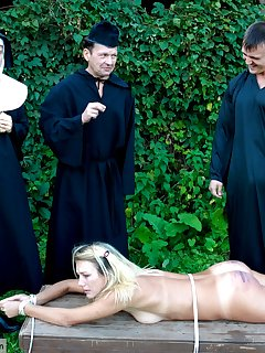 16 of Blonde coed not too old for corporal punishment