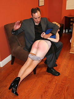 Blonde girls spanked