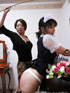 <!–-IMAGE_COUNT-–> of Maid get cruel caning