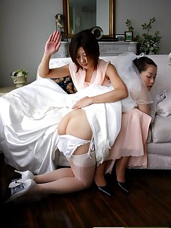 16 of Japan bride gets hard spanked
