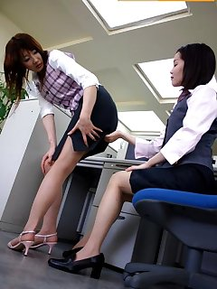 16 of Bad girl spanked by ruler in office