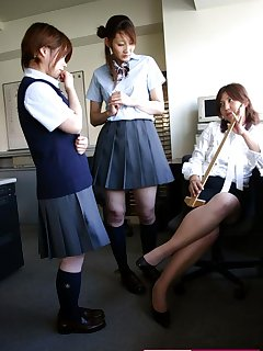 16 of Spanking of Japanese schoolgirls