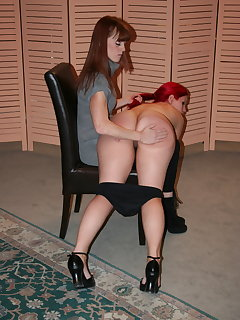 8 of Mary Jane spanked and paddled