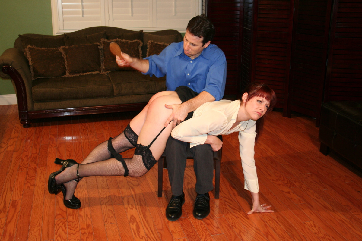 The spanking punishment of summer night