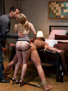 12 of Just married slut was fucking her husband with strange man.