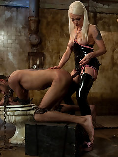 12 of Sexy blond and black man in chains are fucking hard.