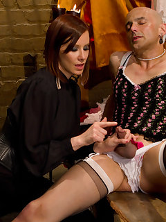 12 of Mistress made a slave be sissy and fucked him