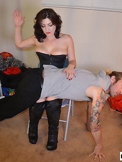 16 of Kymberly Jane Spanks Male Diva