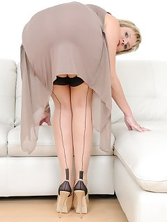 16 of Lady Sonia in thigh high nylons