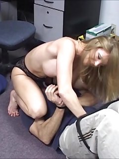 6 of Busty Amber Michaels at Work Smothering