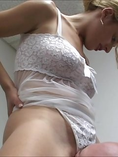 6 of Locked Head Smothering the White Thong Panty