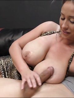 6 of Eva Notty Fetish In Cock Squeezing On Her Big Boobs