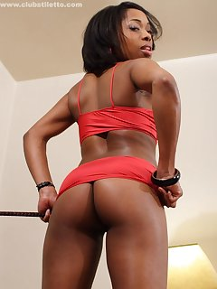 12 of Ebony mistress gets her ass licked