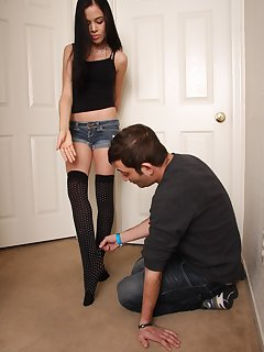 12 of Foot slave to help Tiffany with her stockings