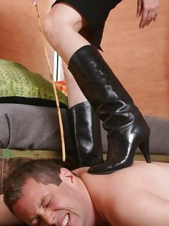 16 of Mistress tramples a malesub by boots