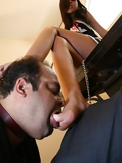 15 of Two submissive males got trampled and feet to lick