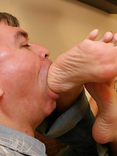 12 of Submissive boy licked foot