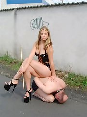 Boy tormented outdoor