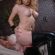 Sexy bare ass on slave's face