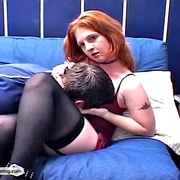 Innocent redhead coed rides her dates face