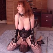 Facesitting and smothering with red head mistress