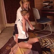 Lesbian smothering and facesitting