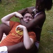 Interracial smothering and wrestling
