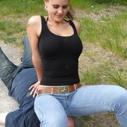 Jeans Sitting Picture