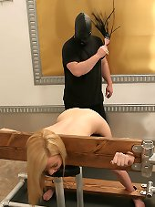Slave bound, gagged and slapped