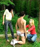 Humiliation and jerking in wood
