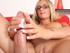 Paige Adams Provides A Sterling Handjob