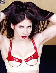 goth chick in rubber bikini